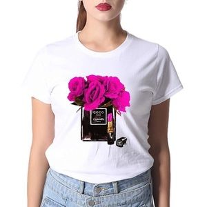 Tops - Coco flower,Lipstick t-shirt